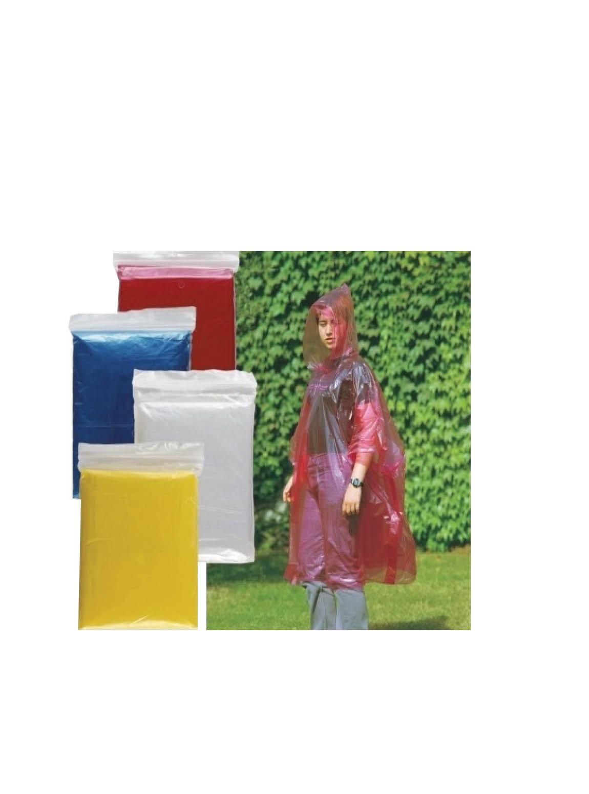 T101 Tek Kullanımlık Yağmurluk (3 Renk) (10lu Paket)