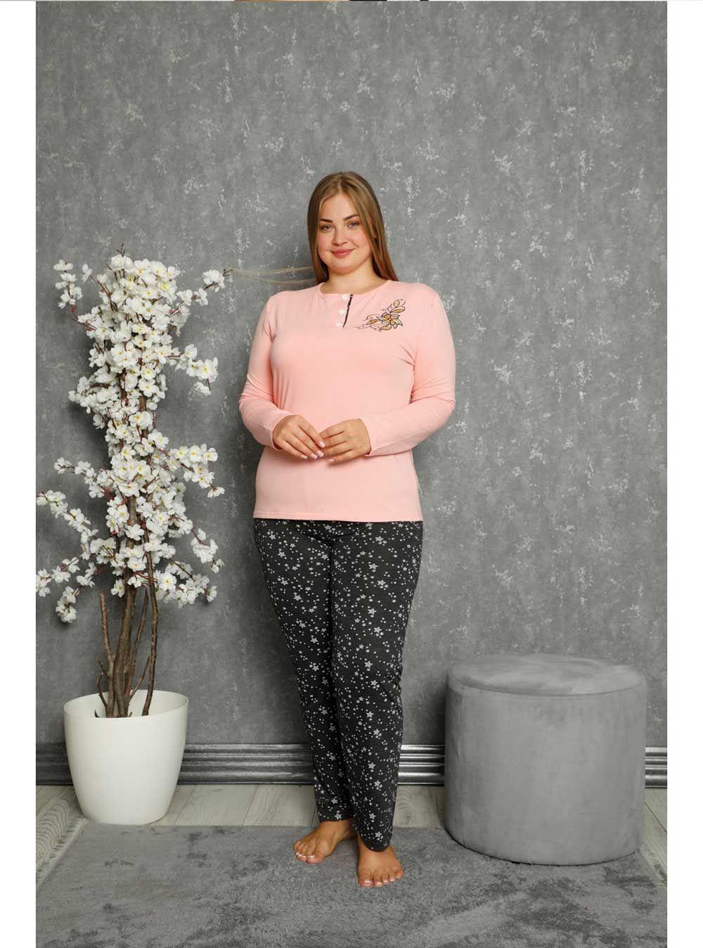 10332P Battal Bayan Pijama