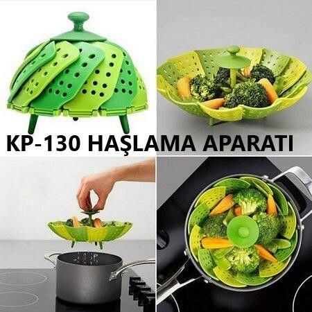 KP-130 Katlanabilir Buharda Sebze Pişirme Haşlama