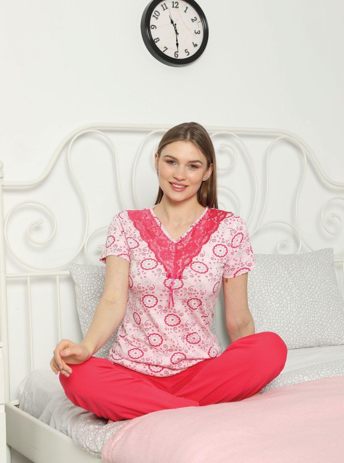 15700P Penye Bayan Pijama Takım