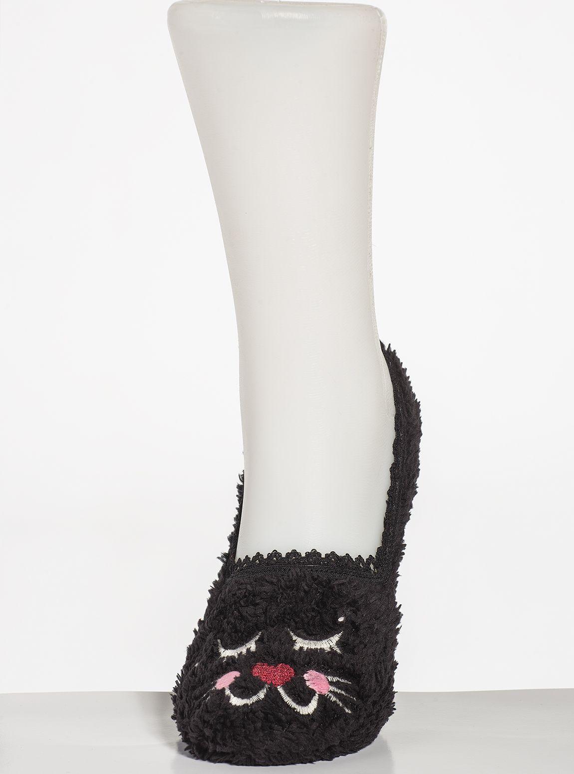 310Ç Nakışlı Peluş Çorap