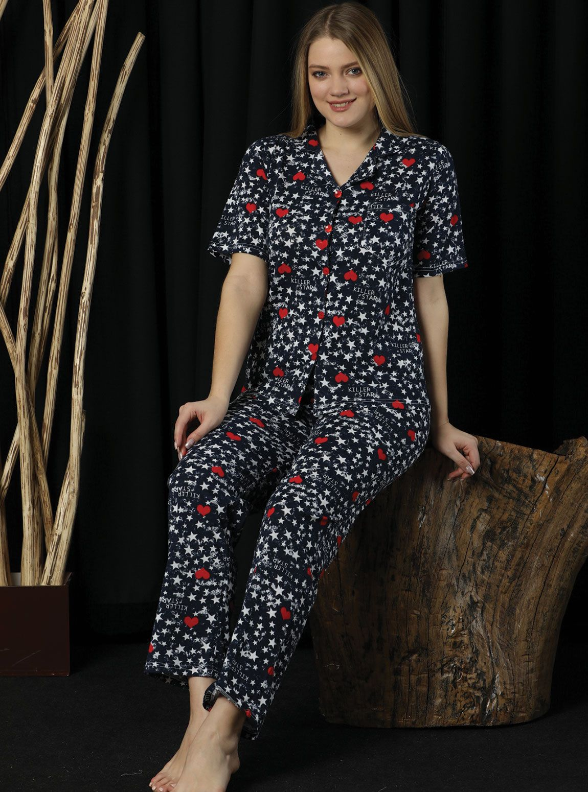 2024p Empirme Likrasız Pijama Takım